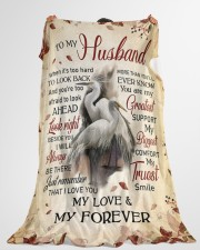 """To my husband - My love and my forever Large Fleece Blanket - 60"""" x 80"""" aos-coral-fleece-blanket-60x80-lifestyle-front-10"""