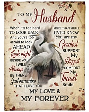 """To my husband - My love and my forever Large Fleece Blanket - 60"""" x 80"""" front"""
