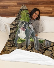"""Pit Bull - They are my friends Large Fleece Blanket - 60"""" x 80"""" aos-coral-fleece-blanket-60x80-lifestyle-front-03"""