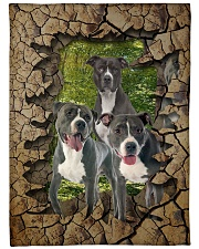 """Pit Bull - They are my friends Large Fleece Blanket - 60"""" x 80"""" front"""