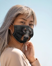 Amazing Doberman Pinscher Cloth face mask aos-face-mask-lifestyle-19