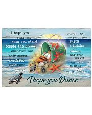 Turtles - I hope you dance 36x24 Poster front