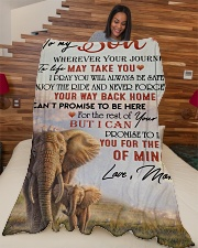 """To my son - I'll love you for the rest of mine Large Fleece Blanket - 60"""" x 80"""" aos-coral-fleece-blanket-60x80-lifestyle-front-04"""