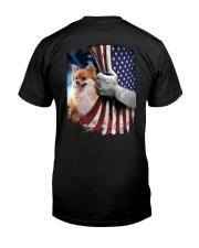 Pomeranian American flag Classic T-Shirt back