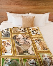 "English Bulldog - Beautiful  Large Fleece Blanket - 60"" x 80"" aos-coral-fleece-blanket-60x80-lifestyle-front-02"