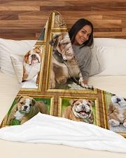 "English Bulldog - Beautiful  Large Fleece Blanket - 60"" x 80"" aos-coral-fleece-blanket-60x80-lifestyle-front-03"