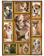 "English Bulldog - Beautiful  Large Fleece Blanket - 60"" x 80"" front"