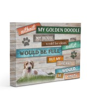 Without Goldendoodle - My heart would be empty 14x11 Gallery Wrapped Canvas Prints front