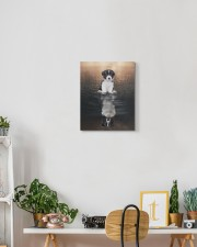 Boder Collie Reflection 11x14 Gallery Wrapped Canvas Prints aos-canvas-pgw-11x14-lifestyle-front-03