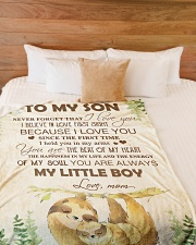 """To my son - You are always my little boy Large Fleece Blanket - 60"""" x 80"""" aos-coral-fleece-blanket-60x80-lifestyle-front-02"""