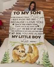 """To my son - You are always my little boy Large Fleece Blanket - 60"""" x 80"""" aos-coral-fleece-blanket-60x80-lifestyle-front-04"""