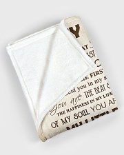 """To my son - You are always my little boy Large Fleece Blanket - 60"""" x 80"""" aos-coral-fleece-blanket-60x80-lifestyle-front-08"""