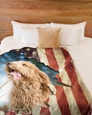 "Beautiful Goldendoodle Large Fleece Blanket - 60"" x 80"" aos-coral-fleece-blanket-60x80-lifestyle-front-02"