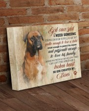 Boxer - God once said 14x11 Gallery Wrapped Canvas Prints aos-canvas-pgw-14x11-lifestyle-front-09