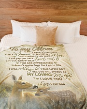 """To my mom - You will always be my loving mother Large Fleece Blanket - 60"""" x 80"""" aos-coral-fleece-blanket-60x80-lifestyle-front-02"""