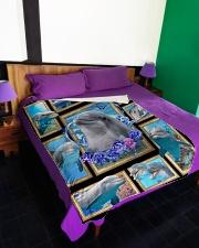 "Beautiful Dolphin B062 Large Fleece Blanket - 60"" x 80"" aos-coral-fleece-blanket-60x80-lifestyle-front-01"