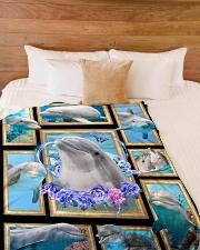 "Beautiful Dolphin B062 Large Fleece Blanket - 60"" x 80"" aos-coral-fleece-blanket-60x80-lifestyle-front-02"