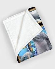 "Beautiful Dolphin B062 Large Fleece Blanket - 60"" x 80"" aos-coral-fleece-blanket-60x80-lifestyle-front-08"