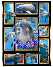 "Beautiful Dolphin B062 Large Fleece Blanket - 60"" x 80"" front"