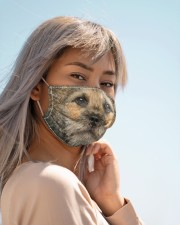 Amazing Border Terrier Cloth face mask aos-face-mask-lifestyle-19
