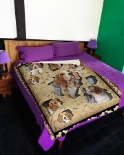 "Beagle - I love beagles Large Fleece Blanket - 60"" x 80"" aos-coral-fleece-blanket-60x80-lifestyle-front-01"