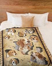 "Beagle - I love beagles Large Fleece Blanket - 60"" x 80"" aos-coral-fleece-blanket-60x80-lifestyle-front-02"