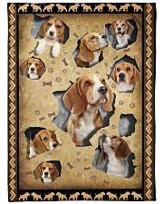 """Beagle - I love beagles Large Fleece Blanket - 60"""" x 80"""" front"""