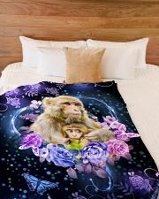 """I love monkeys Large Fleece Blanket - 60"""" x 80"""" aos-coral-fleece-blanket-60x80-lifestyle-front-02"""