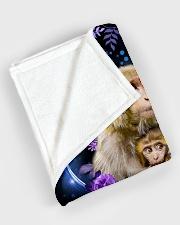 """I love monkeys Large Fleece Blanket - 60"""" x 80"""" aos-coral-fleece-blanket-60x80-lifestyle-front-08"""