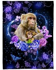"I love monkeys Large Fleece Blanket - 60"" x 80"" front"
