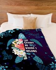 "The ocean is where I belong Large Fleece Blanket - 60"" x 80"" aos-coral-fleece-blanket-60x80-lifestyle-front-02"