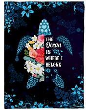 """The ocean is where I belong Large Fleece Blanket - 60"""" x 80"""" front"""
