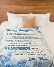 """To my daughter - I am so proud of you Large Fleece Blanket - 60"""" x 80"""" aos-coral-fleece-blanket-60x80-lifestyle-front-02"""