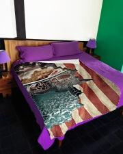 """Beautiful turtle Large Fleece Blanket - 60"""" x 80"""" aos-coral-fleece-blanket-60x80-lifestyle-front-01"""
