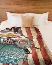 """Beautiful turtle Large Fleece Blanket - 60"""" x 80"""" aos-coral-fleece-blanket-60x80-lifestyle-front-02"""