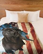"""Beautiful Black Pug Large Fleece Blanket - 60"""" x 80"""" aos-coral-fleece-blanket-60x80-lifestyle-front-02"""