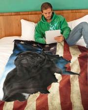 """Beautiful Black Pug Large Fleece Blanket - 60"""" x 80"""" aos-coral-fleece-blanket-60x80-lifestyle-front-06"""