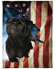 "Beautiful Black Pug Large Fleece Blanket - 60"" x 80"" front"