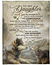 """To my daughter - I am so proud of you Large Fleece Blanket - 60"""" x 80"""" front"""
