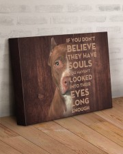 Pit Bull - Look into their eyes 14x11 Gallery Wrapped Canvas Prints aos-canvas-pgw-14x11-lifestyle-front-07