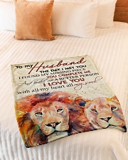 """To my husband - I love you with all my heart Small Fleece Blanket - 30"""" x 40"""" aos-coral-fleece-blanket-30x40-lifestyle-front-01"""