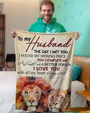 """To my husband - I love you with all my heart Small Fleece Blanket - 30"""" x 40"""" aos-coral-fleece-blanket-30x40-lifestyle-front-09"""