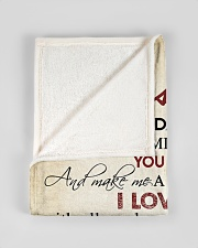 """To my husband - I love you with all my heart Small Fleece Blanket - 30"""" x 40"""" aos-coral-fleece-blanket-30x40-lifestyle-front-17"""