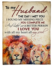 """To my husband - I love you with all my heart Small Fleece Blanket - 30"""" x 40"""" front"""