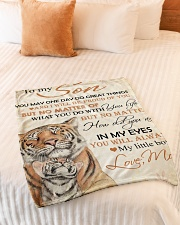 """To my son - You will always my little boy Small Fleece Blanket - 30"""" x 40"""" aos-coral-fleece-blanket-30x40-lifestyle-front-01"""