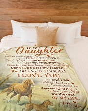 """My daughter - I love you and I'll always be here Large Fleece Blanket - 60"""" x 80"""" aos-coral-fleece-blanket-60x80-lifestyle-front-02"""