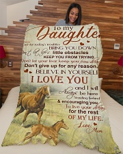 """My daughter - I love you and I'll always be here Large Fleece Blanket - 60"""" x 80"""" aos-coral-fleece-blanket-60x80-lifestyle-front-04"""