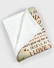 """My daughter - I love you and I'll always be here Large Fleece Blanket - 60"""" x 80"""" aos-coral-fleece-blanket-60x80-lifestyle-front-08"""