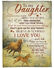 """My daughter - I love you and I'll always be here Large Fleece Blanket - 60"""" x 80"""" front"""