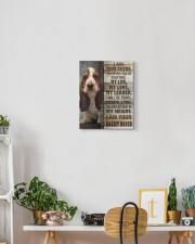 Basset hound - I am your friend 11x14 Gallery Wrapped Canvas Prints aos-canvas-pgw-11x14-lifestyle-front-03